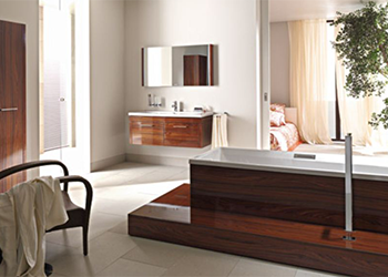 salle de bains facq, meubles en bois