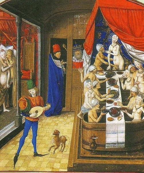 Au Moyen Age : une étuve collective