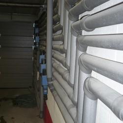 Canalisations en Multiskin avec isolation et filtres d'entrée