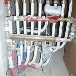 canalisations en Multiskin - collecteur d'eau sanitaire avec compteur de passage