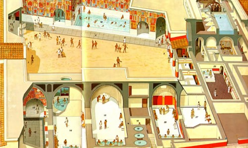 Les thermes de Pompei