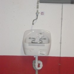 Raccordement d'un bac de lavage